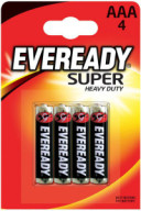 Батарейка Energizer Eveready Super Heavy Duty R03 (ААА, 4 штуки)