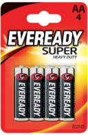 Батарейка Energizer Eveready R6 Super Heavy Duty (АА, 4 штуки)