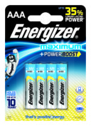 Батарейки Energizer Maximum LR03/E92 (ААА, 4 штуки)