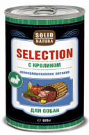 "Консервы для собак Solid Natura ""Selection"" с кроликом, 970 г"
