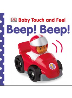 """Help your baby discover all about tractors, trucks and rockets with touch and feel textures. """"Baby Touch and Feel Beep! Beep!"""" is full of twinkly, bumpy, scaly, silky, sandy, sticky and shiny textures in a chunky package. Encourage your baby to learn early concepts such as colours, shapes and patterns as they turn each page. See the big strong bulldozer at work, the long arm of the digger and high in the sky - it's a plane! This title is perfect for encouraging tiny fingers to explore and young minds to develop. Sturdy pages with rounded corners mean """"Baby Touch and Feel Beep! Beep!"""" will provide years of enjoyment."""