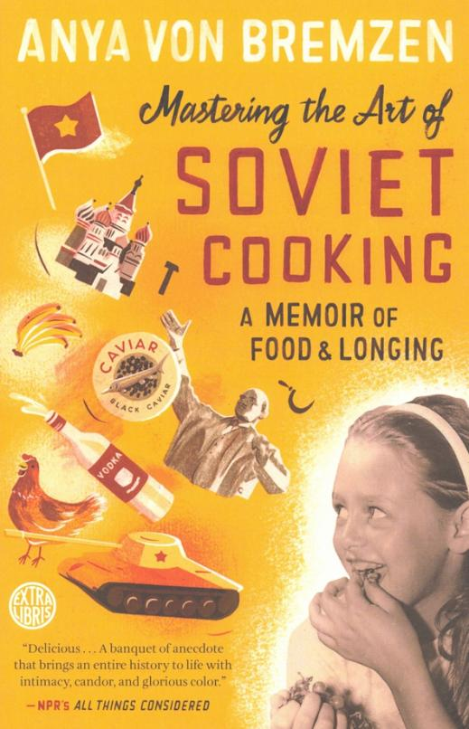 Born in 1963, in an era of bread shortages, Anya grew up in a communal Moscow apartment where eighteen families shared one kitchen. She sang odes to Lenin, black-marketeere Juicy Fruit gum at school, watched her father brew moonshine, and, like most Soviet citizens, longed for a taste of the mythical West. It was a life by turns absurd, naively joyous, and melancholy—and ultimately intolerable to her anti-Soviet mother, Larisa. When Anya was ten, she and Larisa fled the political repression of Brezhnev-era Russia, arriving in Philadelphia with no winter coats and no right of return. Now Anya occupies two parallel food universes: one where she writes about four-star restaurants, the other where a taste of humble kolbasa transports her back to her scarlet-blazed socialist past. To bring that past to life, Anya and her mother decide to eat and cook their way through every decade of the Soviet experience. Through these meals, and through the tales of three generations of her family, Anya tells the intimate yet epic story of life in the USSR. Wildly inventive and slyly witty, Mastering the Art of Soviet Cooking is that rare book that stirs our souls and our senses.