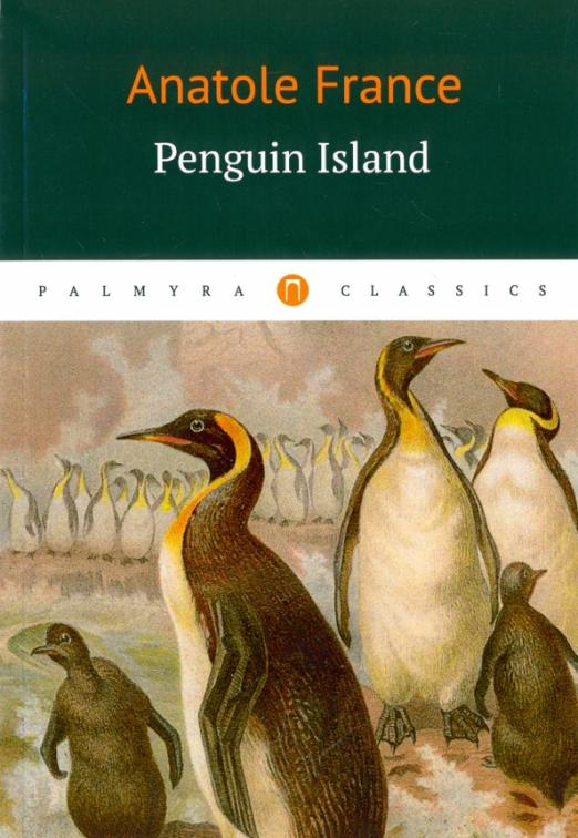 Penguin Island (1908) is a satirical fictional history, beginning with Christian missionary monk landing on the island. Mostly blind and deaf monk have mistaken auks for humans and baptized them. The God, who only allows human to be baptized, converted the birds into humans. Thus begins the history of Penguinia.