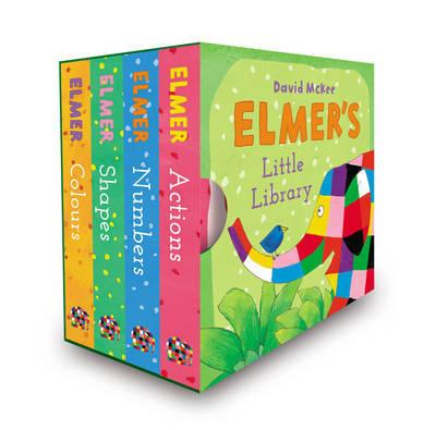 Little hands will love turning each sturdy page and meeting favourite friends from the world of Elmer the patchwork elephant. Having fun in the world of Elmer, preschoolers will naturally absorb the basic concept information. Turn over the four board books, and their back covers will create a fun jigsaw.