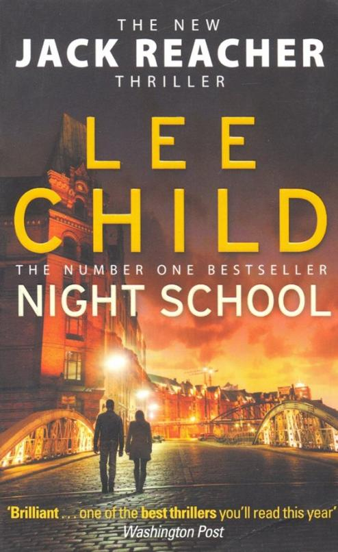 """It's 1996, and Reacher is still in the army. In the morning they give him a medal, and in the afternoon they send him back to school. That night he's off the grid. Out of sight, out of mind. Two other men are in the classroom—an FBI agent and a CIA analyst. Each is a first-rate operator, each is fresh off a big win, and each is wondering what the hell they are doing there. Then they find out: A Jihadist sleeper cell in Hamburg, Germany, has received an unexpected visitor—a Saudi courier, seeking safe haven while waiting to rendezvous with persons unknown. A CIA asset, undercover inside the cell, has overheard the courier whisper a chilling message: """"The American wants a hundred million dollars."""" For what? And who from? Reacher and his two new friends are told to find the American. Reacher recruits the best soldier he has ever worked with: Sergeant Frances Neagley. Their mission heats up in more ways than one, while always keeping their eyes on the prize: If they don't get their man, the world will suffer an epic act of terrorism. From Langley to Hamburg, Jalalabad to Kiev, Night School moves like a bullet through a treacherous landscape of double crosses, faked identities, and new and terrible enemies, as Reacher maneuvers inside the game and outside the law."""