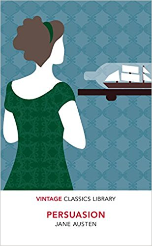 PERSUASION is Jane Austen's last completed novel, published posthumously. She began it soon after she had finished Emma and completed it in August 1816. Persuasion was published in December 1817, but is dated 1818. The author died earlier in 1817. As the Napoleonic Wars come to an end in 1814, Admirals and Captains of the Royal Navy are put ashore, their work done. Anne Elliot meets Captain Frederick Wentworth after seven years, by the chance of his sister and brother-in-law renting her father's estate, while she stays for a few months with her married sister, living nearby. They fell in love the first time, but she broke off the engagement. Besides the theme of persuasion, the novel evokes other topics, with which Austen was familiar: The Royal Navy, in which two of Jane Austen's brothers rose to the rank of admiral; and the superficial social life of Bath. It is portrayed extensively and serves as a setting for the second half of Persuasion. In many respects, Persuasion marks a break with Austen's previous works, both in the more biting, even irritable satire directed at some of the novel's characters and in the regretful, resigned outlook of its otherwise admirable heroine, Anne Elliot, in the first part of the story. Against this is set the energy and appeal of the Royal Navy, which symbolizes for Anne and the reader the possibility of a more outgoing, engaged, and fulfilling life, and it is this worldview which triumphs for the most part at the end of the novel.