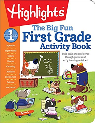 With a fresh approach to practicing essential skills for school readiness and success, The Big Fun First Grade Activity Book contains more than 250 pages of imaginative puzzling, humor, and whimsical illustrations. This book contains a wealth of Fun with a Purpose(TM) puzzle-based activities, and will engage children and get them excited about learning! First graders can practice a variety of skills such as practicing their letters, numbers, colors, shapes, and more, while doing age-appropriate Hidden Pictures® puzzles, mazes, matching puzzles, scavenger hunts, and find-the-difference puzzles. All activities will help kids feel confident in school while supplementing their classroom activities. In addition, each book includes an introduction that is full of simple tips to help parents talk to their first graders about the activities in these workbooks.