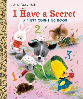 """Little Golden Book fans will love this adorable animal counting book from 1962, back in print for today's preschoolers! One little chick struts and clucks: """"I have a secret"""".  Two little pigs, three little kittens, and four little puppies follow the chick to find out what her secret is. And as word gets around, more animals join in, and soon eight little rabbits, nine little turtles, and ten little bluebirds have joined the parade! Playful rhyming text and adorably dressed animal characters make learning to count to ten easy and fun!"""