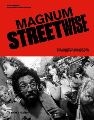 """Ambitious in scope, democratic in nature, Magnum Streetwise is an unmissable tour through the photographs and practices that have helped define what street photography is and can be. Magnum photographers such as Henri Cartier-Bresson pioneered """"modern"""" concepts of street photography before the term was even coined. But their influence is far from historic. A rich seam of street photography runs through the heart of Magnum to this day, both in the work of recognized masters of street photography - such as Erwitt, Parr, Gilden and Kalvar - and of those who might not even consider themselves street photographers; a continued influence that has not gone unnoticed among the current generation of budding street photographers and fans. Magnum Streetwise is a true visual feast, interleaving insightful texts and anecdotes within an intuitive blend of photographer and theme-based portfolios, exploring not only the work of outstanding photographers, but how common subject matter (places of leisure, marketplaces, travel) and locations (Paris, New York, Tokyo) have been addressed, conceptually and practically, across the agency and through the ages. Magnum Streetwise is an essential addition to the bibliography of street photography, showcasing hidden gems alongside many of the genre"""