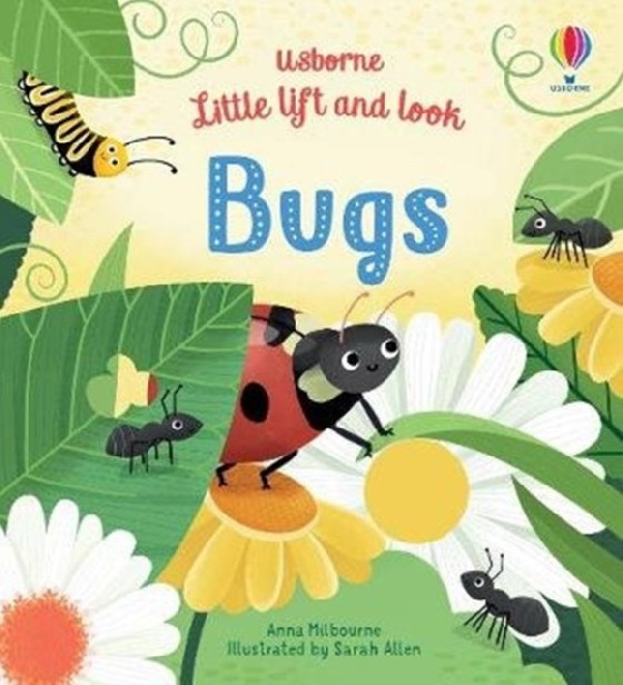 Follow a spotty ladybird as she explores outdoors, and lift petals and leaves to meet lots of other bugs along the way. This charming book for little children has lots to discover and talk about on every page, from buzzy bees visiting flowers to a line of ants and munching caterpillars.