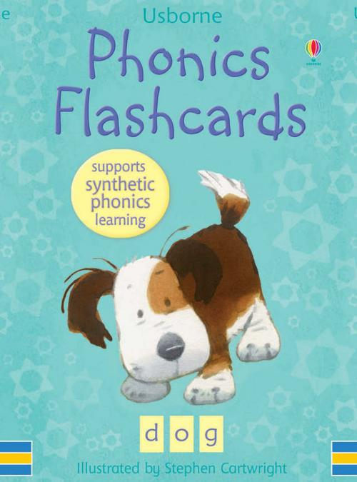 - A fantastic aid to learning to read using synthetic phonics. - Synthetic phonic learning is the process of reading by sounding the individual sounds of a word and then blending them together to read the word as a whole. - Each card shows a picture of a familiar word, its alphabetical spelling and breakdown of its phonetic components, with one card for each of the 44 basic phonemes in English. - Featuring the much-loved illustrations of Stephen Cartwright. - The cards are robust and durable, ensuring repeated use.