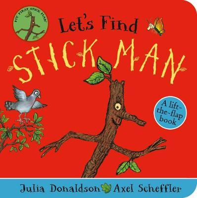 Where has Stick Man gone? Can you find him? Lift the colourful felt flaps in this fun chunky board book, perfect for small hands, until you find Stick Man! While there is so much fun to be had, this board book will also help increase hand-eye co-ordination, develop speech and aid learning through repetition. Based on the bestselling book Stick Man by Julia Donaldson and illustrated by Axel Scheffler, the creators of The Gruffalo.