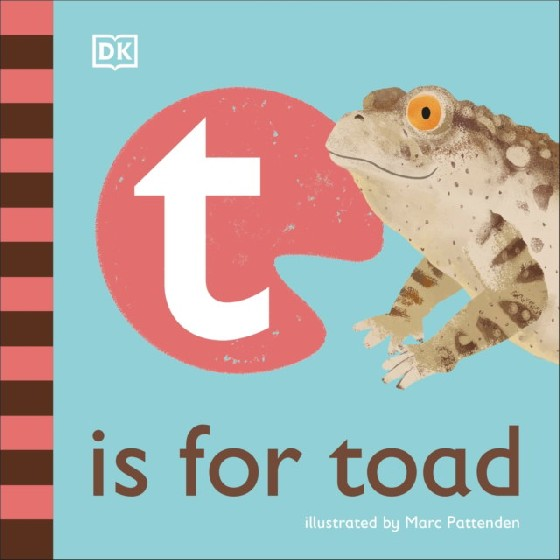 The latest title in DKs charming new alphabet series looks at toad-related words that begin with the letter t. Take a first look at the totally terrific world of toads in this beautifully illustrated nonfiction picture book for babies and toddlers. Part of DKs illustrated animal alphabet series that makes a wonderful first gift, T is for Toad is perfect for sharing with little ones. It has friendly, read-aloud text and delightful illustrations by Marc Pattenden. Young animal lovers will be smiling in no time as they point to the pictures, learn fun words about toads that all begin with the letter t, and discover cool things about these amazing creatures. Learn how toads have a tough skin, how they are similar to frogs, how baby toads and frogs are called tadpoles, and how toads and frogs catch insects with their long, flicky tongues. Filled with simple, playful facts, T is for Toad provides lots to talk about and lots to look at for curious, animal loving babies and toddlers everywhere.