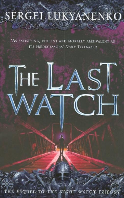 """The Last Watch"" is the stunning sequel to the Night Watch trilogy, following the fortunes of the Others. Indistinguishable from normal people but possessed of supernatural powers and capable of entering the Twilight, a shadowy world that exists in parallel to our own, each Other owes allegiance either to the Dark, or to the Light...While on holiday in Scotland, visiting 'The Dungeons of Edinburgh', a young Russian tourist is murdered. As the police grapple with the fact that the cause of the young man's death was a massive loss of blood, the Watches are immediately aware that there is a renegade vampire on the loose. Anton - the hero of the Night Watch trilogy - is detailed to this seemingly mundane investigation, but begins to realise that there is much more to the story than a wildcat vampire and a single murder, and discovers that a team of unlicensed Others are hunting for a fabled magical treasure, hidden in the sixth level of the Twilight by Merlin himself."