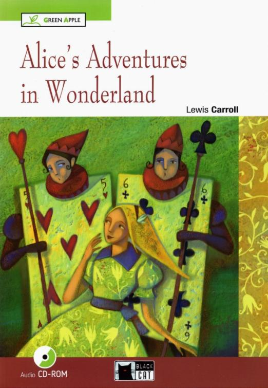 Alice follows the White Rabbit down a rabbit hole and finds herself in the magical world of Wonderland, where anything can happen. She grows bigger and smaller and she meets a lot of very strange characters! These include the Caterpillar on his mushroom, the smiling Cheshire Cat, the Hatter and the March Hare at their mad tea party, the Queen of Hearts at her crazy game of croquet, and many more!
